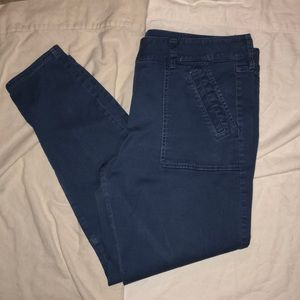 Loft modern skinny ankle medium blue 14 pants